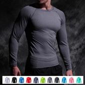 紧身上衣男运动短袖长袖跑步足球高弹力压缩速干篮球打底衫健身服
