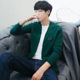 秋冬新品韩版修身针织开衫男士长袖休闲青年毛衣外套学生夹克线衣