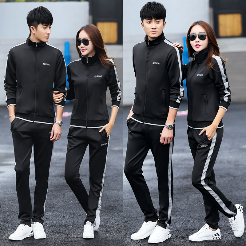 秋冬运动套装男女两件套情侣款休闲套装男装一套卫衣跑步运动服装