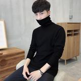 男士修身打底衫高领毛衣保暖针织衫紧身长袖韩版冬季加厚黑色男装