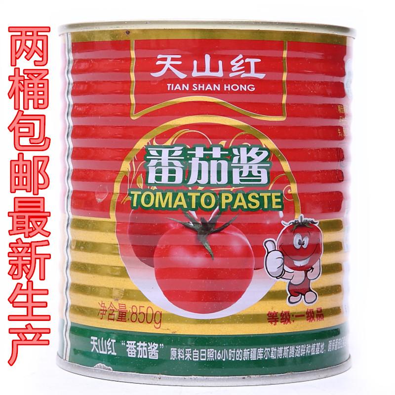 2桶包邮 天山红番茄酱850克 番茄酱 桶装清真番茄酱 番茄调料