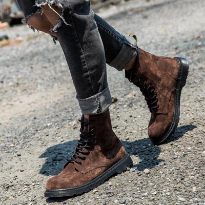 马丁靴男潮短靴棉靴雪地靴高帮鞋男靴英伦皮靴子韩版冬季加绒棉鞋