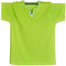 半截袖 加肥加大码 V领衣服夏装 男装 新款 2016潮男款 韩版 t恤短袖 短袖
