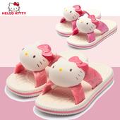 女款 可爱居家亲子浴室防滑小孩沙滩拖鞋 凯蒂猫女童凉拖鞋 新款