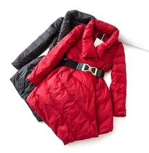 年终巨献专柜好货冬装韩版女式中长款修身显瘦加厚保暖羽绒服