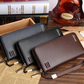 钱包手拿包拉链 休闲大容量手包潮 多功能多卡位皮夹时尚 长款 男士