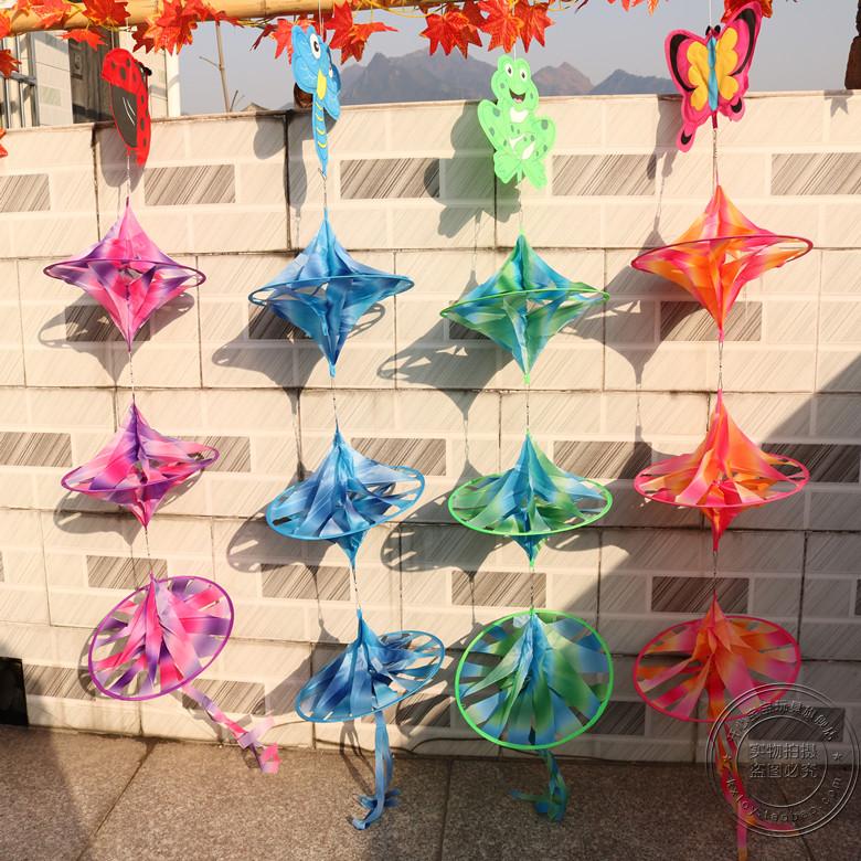 幼儿园环境布置用品教室走廊装饰材料多彩动物空中吊