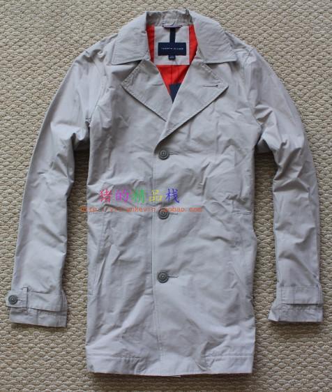 国内现货 Tommy Hilfiger 美国正品采购 男士经典单排扣风衣