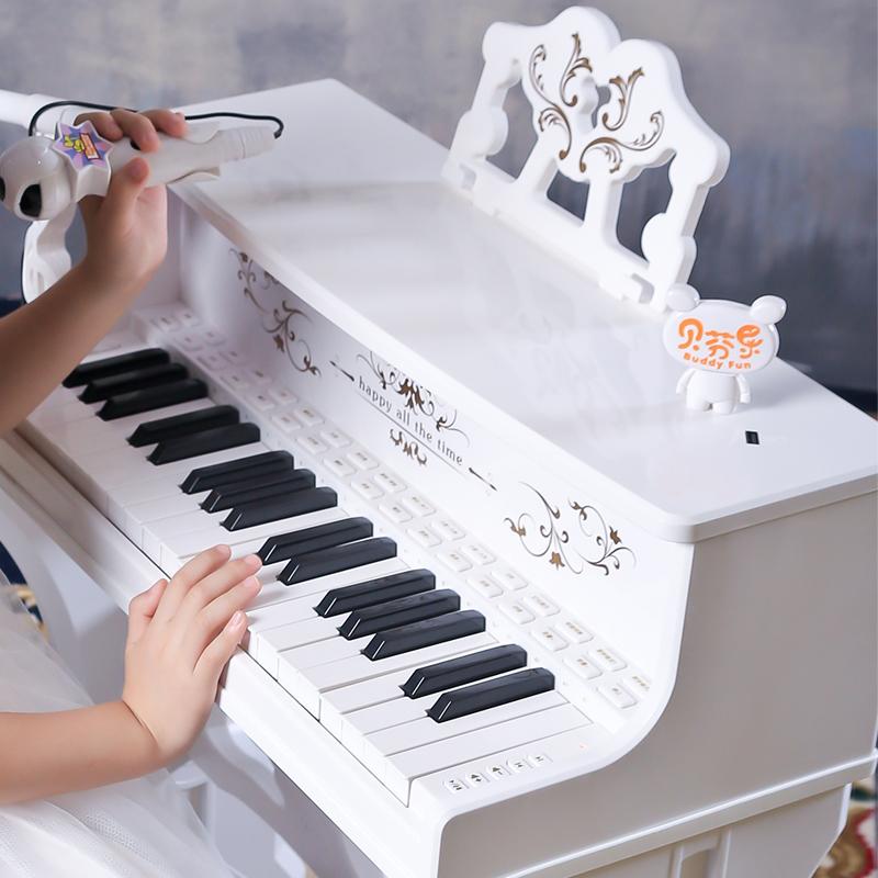 贝芬乐儿童电子琴带麦克风钢琴男女孩玩具琴1-3-6-8岁音乐礼物琴