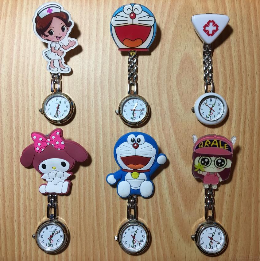 公仔硅胶可爱时尚韩版手表笑脸护士表挂表医用女款怀表学生石英表