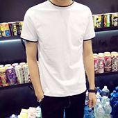 青少年修身 圆领纯棉半袖 体恤衫 短袖 韩版 T恤男新款 2016夏季男士