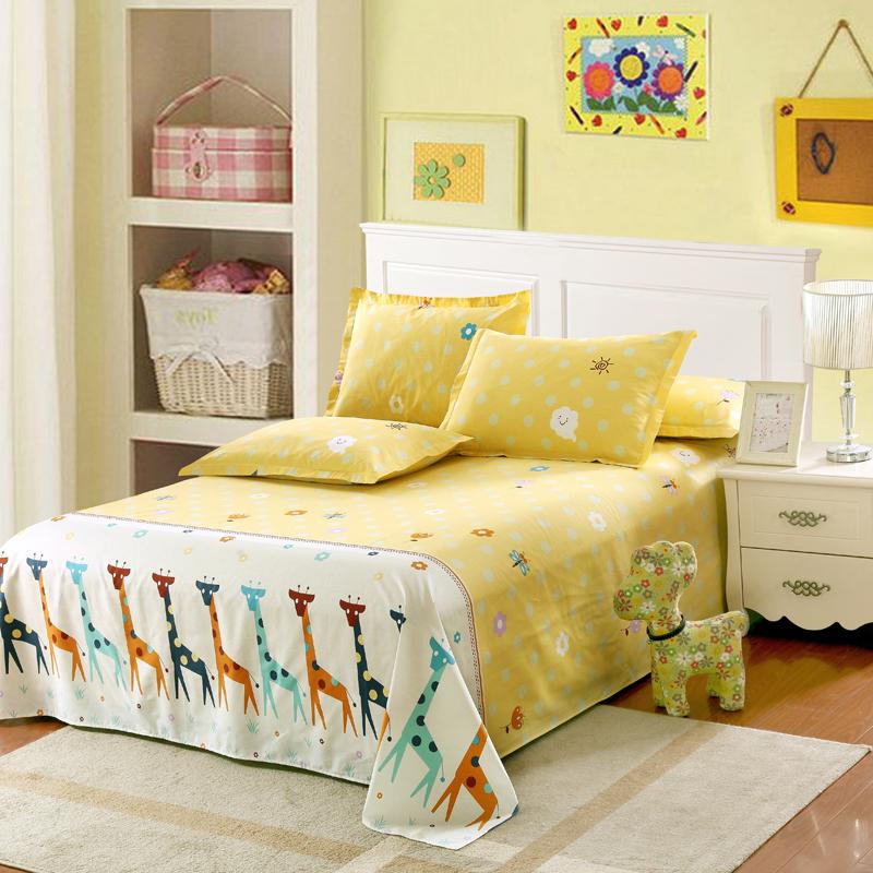 单件纯棉床单  全棉学生宿舍儿童卡通被单 棉布寝室 0.9 1.0 1.2