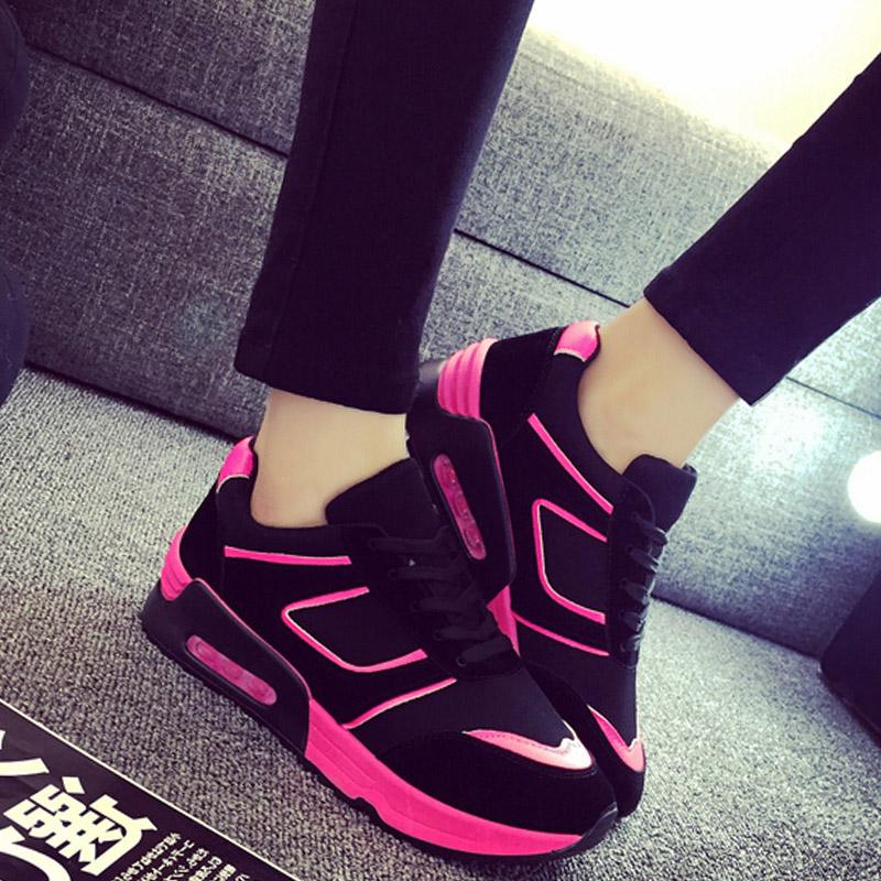 2016春季韩版运动鞋 新款潮女鞋透气跑步鞋 平底休闲鞋百搭学生鞋