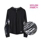 卫衣女士外套 新款 进口NYLON 运动服连帽防晒长袖 PINK正品 韩国代购
