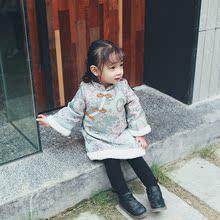 宝宝拜年服夹棉旗袍连衣裙儿童加厚棉外套冬装 童装 棉服 女童唐装