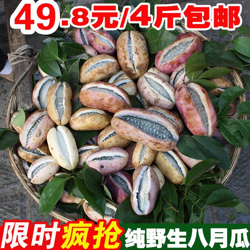 现货现发 4斤装云南深山野生八月瓜八月炸野果新鲜水果当季野香蕉