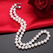 希梵尼珠宝 AAAA天然珍珠项链女 正圆极强光8-9-10mm 送妈妈礼物