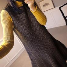 背心裙纹路 连衣裙 1225 代购 喇叭裙型时尚 ribbontie 韩国正品
