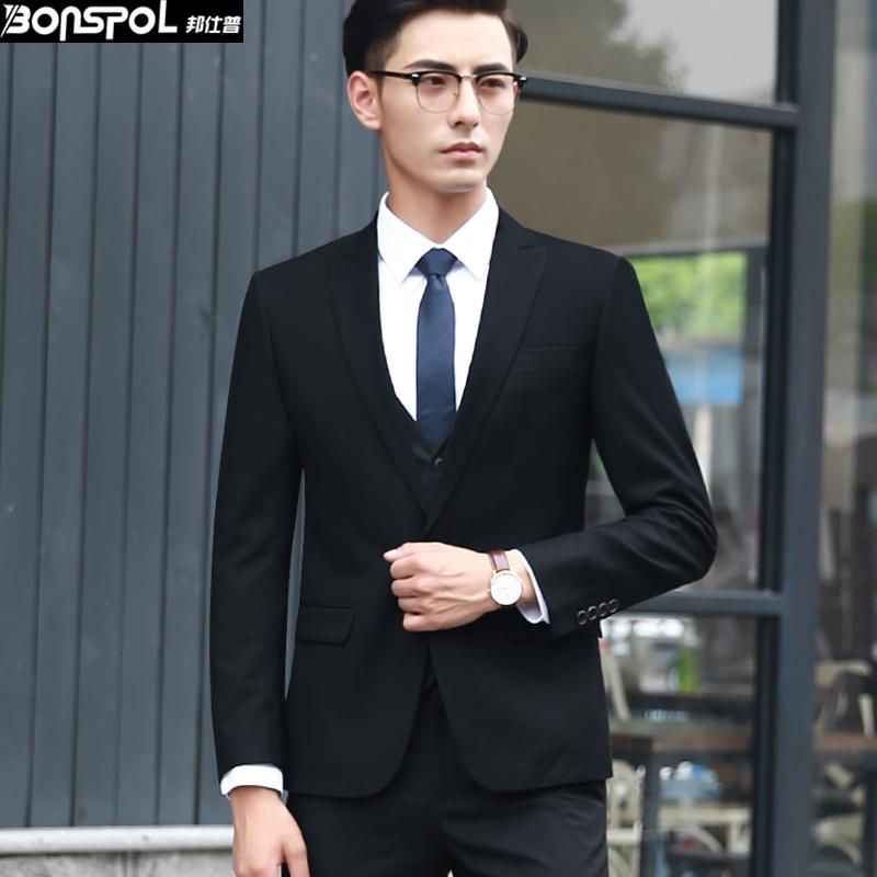 秋季西服男上衣青年西装男正装单西外套韩版修身商务休闲小西装男