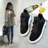 韩版学生休闲鞋2017春季新款百搭板鞋运动鞋加绒松糕厚底单鞋女潮