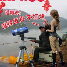 钓鱼灯夜钓灯 蓝光灯防水诱鱼手电筒灯头灯拉饵灯充电 100W强光