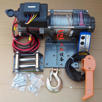 促销电动绞盘ATV越野汽车绞盘牵引机12/24v电动提升吊卷扬机