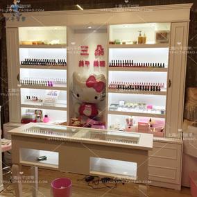 欧式指甲油展柜化妆品柜指甲油展示柜