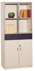 苏州商业办公家具柜子木质三门书柜时尚带抽屉文件柜资料柜059