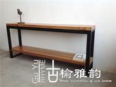 古榆雅韵老榆木家具 LOFT工业风格铁木书架/展示架陈列架置物架