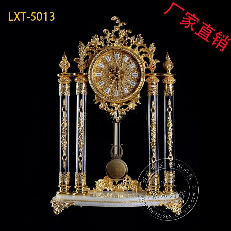 厂家直销复古欧式钟座钟仿象牙钟客厅居家创意礼品镀