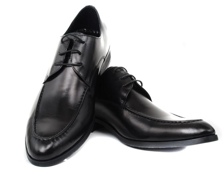 新款纯真皮流行尖头时尚男鞋 英伦结婚皮鞋男正装商务内增高皮鞋