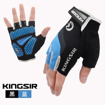 夏季户外透气防震短指手套 自行车半指骑行手套 男女骑行装备