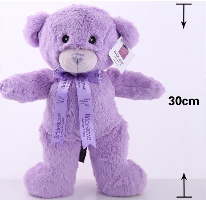 熏衣草小熊手工小熊公仔纯紫色v手工毛绒玩具送嘲笑男生女生一个一个图片