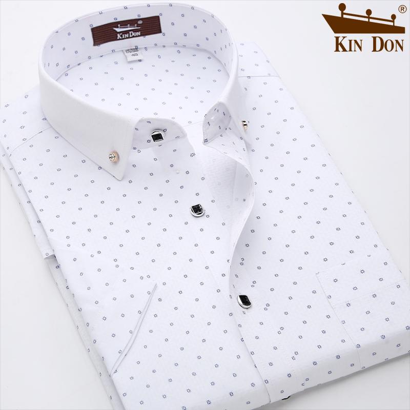 金盾男装夏季衬衫男短袖商务休闲白衬衣男士半袖寸衫韩版工装免烫