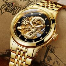 男士库存防水全自动机械手表镂空透明老款上海爸爸中年学生国腕表
