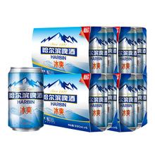 【天猫超市】Harbin/哈尔滨啤酒 冰爽拉罐330ml*24听 整箱装