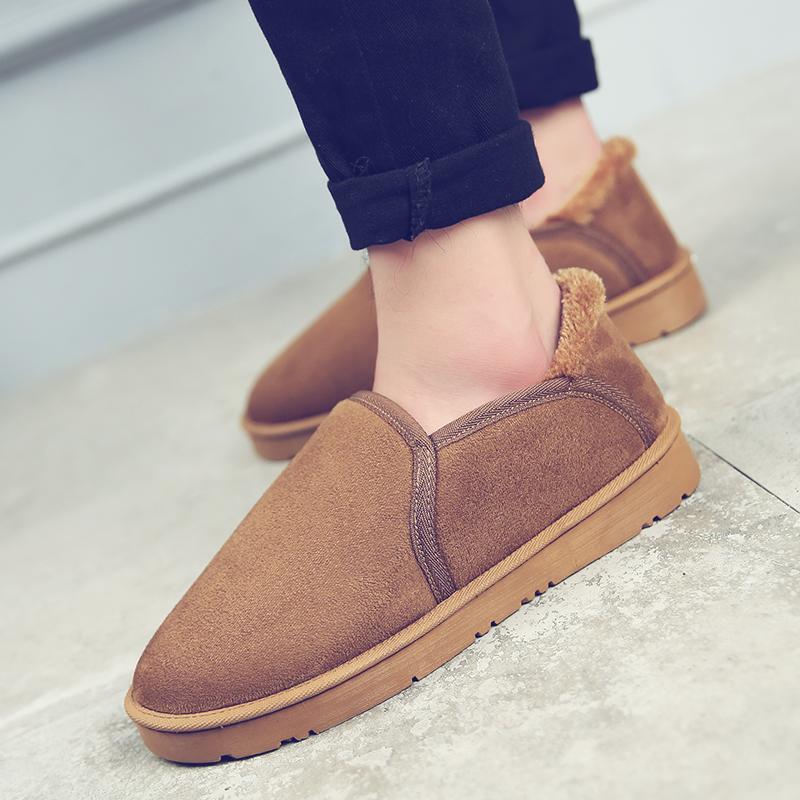 2016新款冬季韩版男鞋子加绒保暖棉鞋男面包雪地靴男士短靴棉靴子