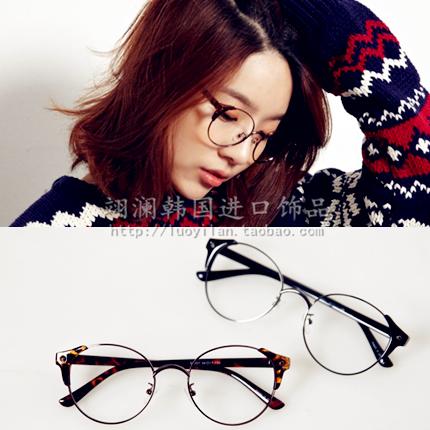 韩国代购配饰豹纹复古装饰眼镜框非主流潮男女近视时尚情侣凹造型