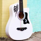 蒂朵正品38寸民谣木吉他初学者男女学生入门新手练习jita吉它乐器