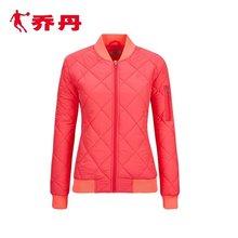 乔丹棉服女梭织运动棉衣立领短款休闲运动棉服外套