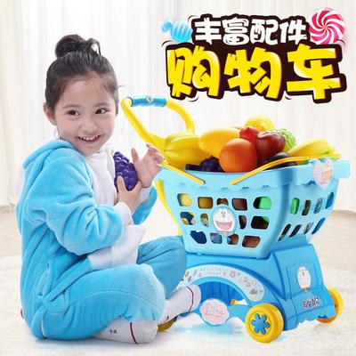 仿真收银机儿童过家家手推车宝宝男小女孩超市购物车玩具1-3-6岁