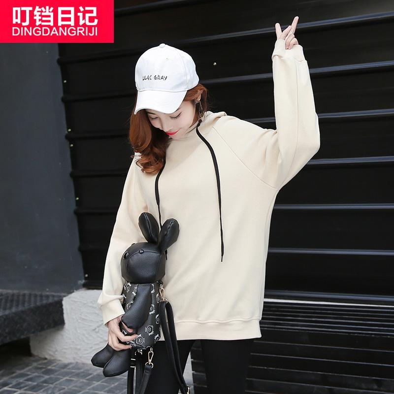 2017春装新款连帽卫衣女韩版潮学生宽松套头BF风原宿上衣ulzzang