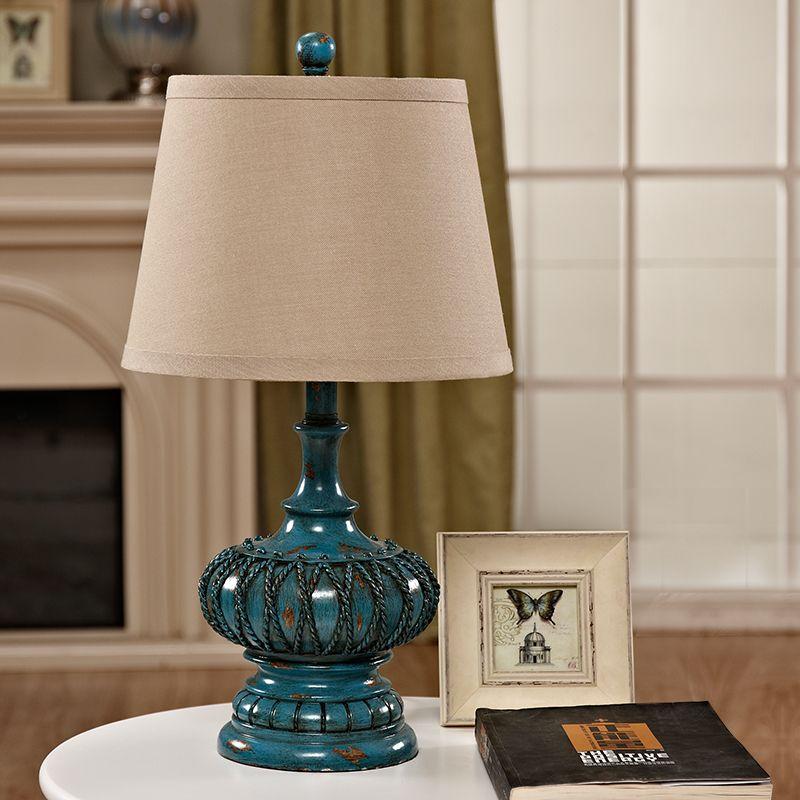 欧式台灯卧室床头灯美式复古温馨新中式陶瓷田园时尚