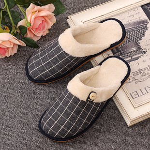 棉拖鞋秋冬季男女士居家情侣包头厚底保暖鞋家居防滑地板拖鞋