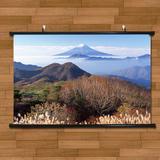 日本富士山八峰唯美山顶景色海报挂画有框画世界名胜客厅装饰画