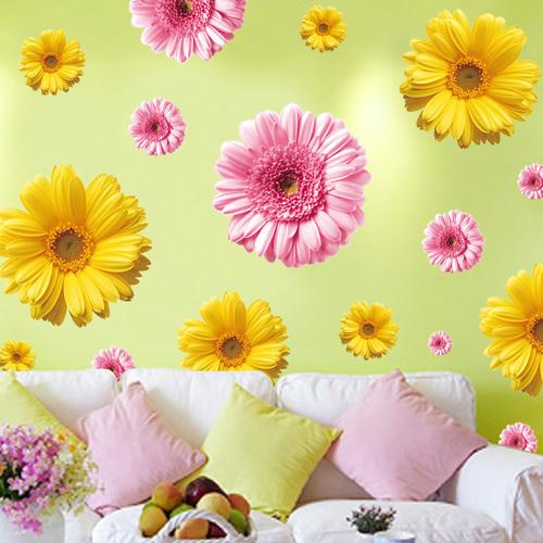 舍卧室自粘墙纸墙面贴画装饰花卉墙贴纸