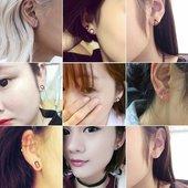 韩国小饰品圆形几何三角形立方体耳钉女气质简约日韩耳环耳饰