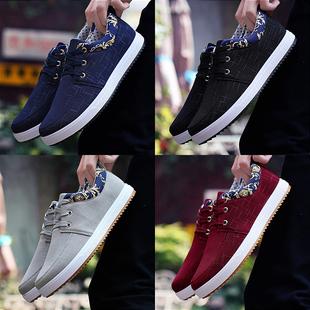 鞋子男鞋春夏季帆布鞋男士休闲鞋潮鞋学生运动鞋老北京布鞋男板鞋