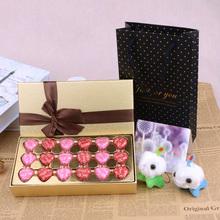 情人节生日送女神礼物 德芙巧克力心语18粒装 正品 金色礼盒装 包邮