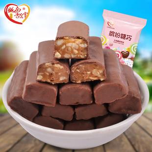 城南故事紫皮糖巴旦木花生夹心巧克力糖果结婚喜糖年货零食品500g